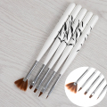 5Pcs/set Nail Art Brush Tools Set Crystal UV Gel Painting Drawing Brushes Pen Kits DIY Tools