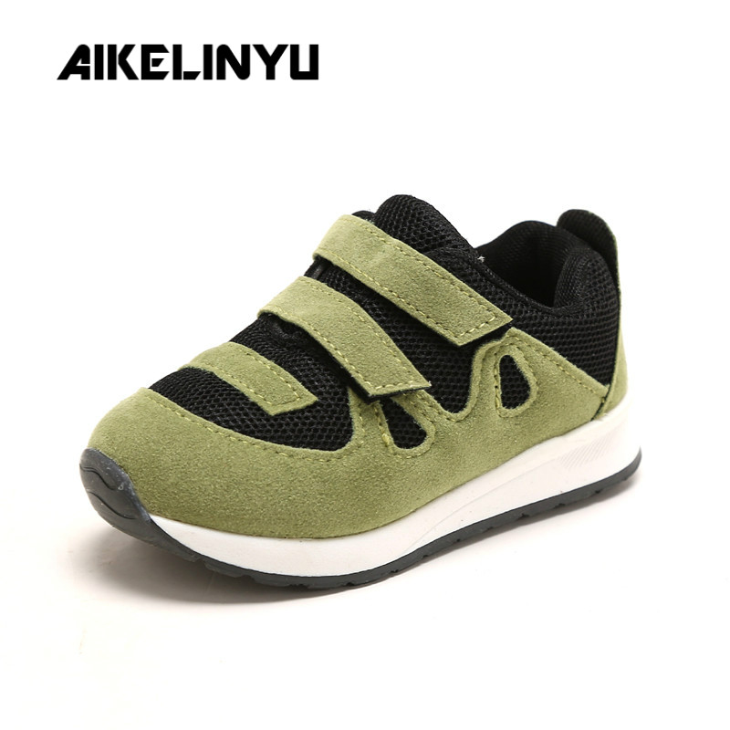 AIKELINYU Children Sports Shoes Autumn Boys Running Shoes Fashion Anti skid Girl Casual Shoes Children Baby