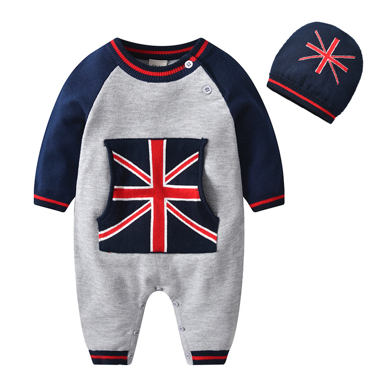 d8b8fbf2b3 Baby Boys Knit Rompers Long Sleeve Infant Clothes Jumpsuit Spring 2019  Costume Baby Outfits Romper with