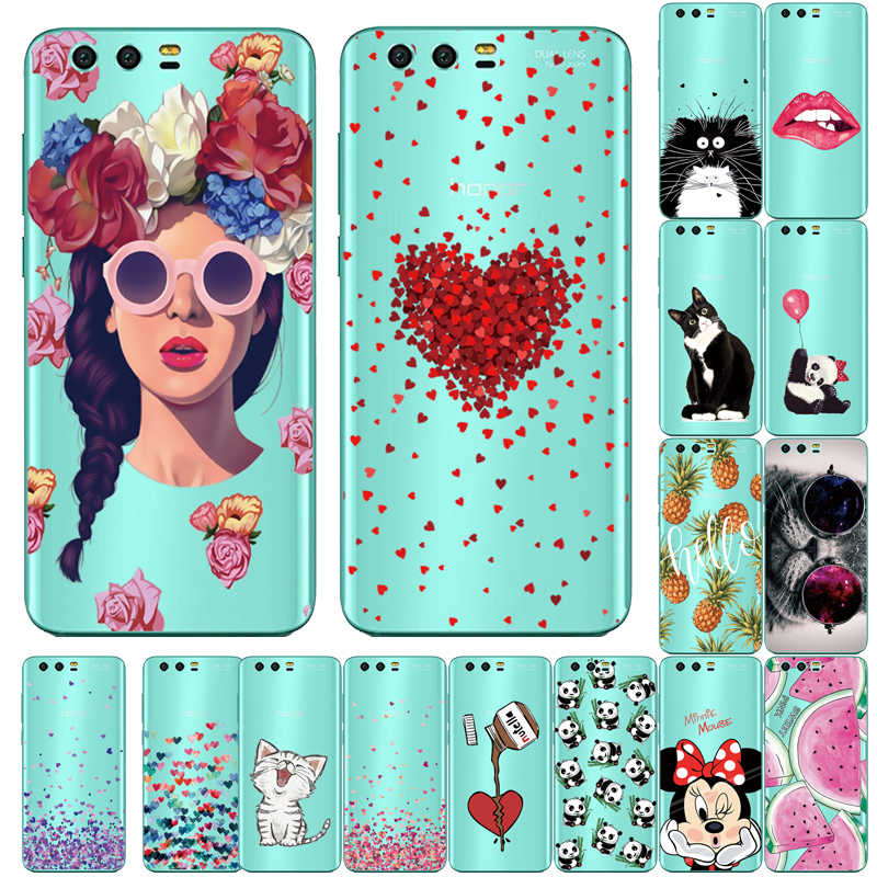 Case For Huawei Honor 9 Case Fashion Soft Silicone Phone Cases For Huawei Honor 9 Cover TPU Printed Protective Cases On Honor 9