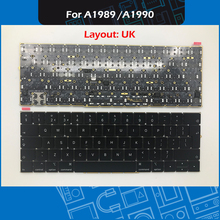 New A1990 A1989 Keyboard UK Layout For Macbook Pro Retina 13″ A1989 15″ A1990 Keyboard Replacement Mid-2018 EMC 3214 EMC 3215