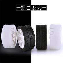 2pcs DIY intelligent toy car accessories wheel model rubber wheel TT motor tire 65*27mm f17675 7 jmt 4pcs 38mm 1 20 rubber tire model wheel diy robot accessories toy parts for rc car