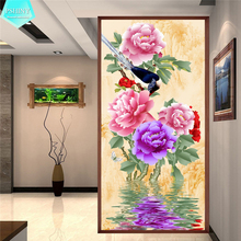 PSHINY 5D DIY Diamond embroidery sale Flower Decorative Painting Full Round Rhinestone cross stich
