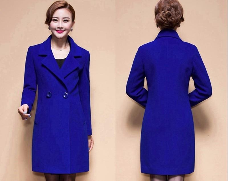 Wool Coat Female Fashion Women Woolen Coats High-end Elegant Long Slim Winter Jacket Royal Coats&Jackets Plus Size Femininos 4XL 9