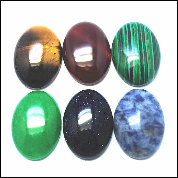 wholesale nature gem stone cabochons nice howlite sodalite tiger eye black onyx rosee quartz indian agatee amethystt 18x25mm
