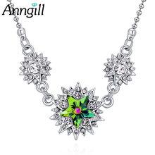 Ожерелье чокер женское с подвеской в виде звезд сваровски