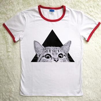 Hillbilly Cute Nice Cat Print Gift To Women Girls Red Neck T Shirt Plus Size Harajuku Tees Shirt Christmas 80s 90s 00s T-shirts
