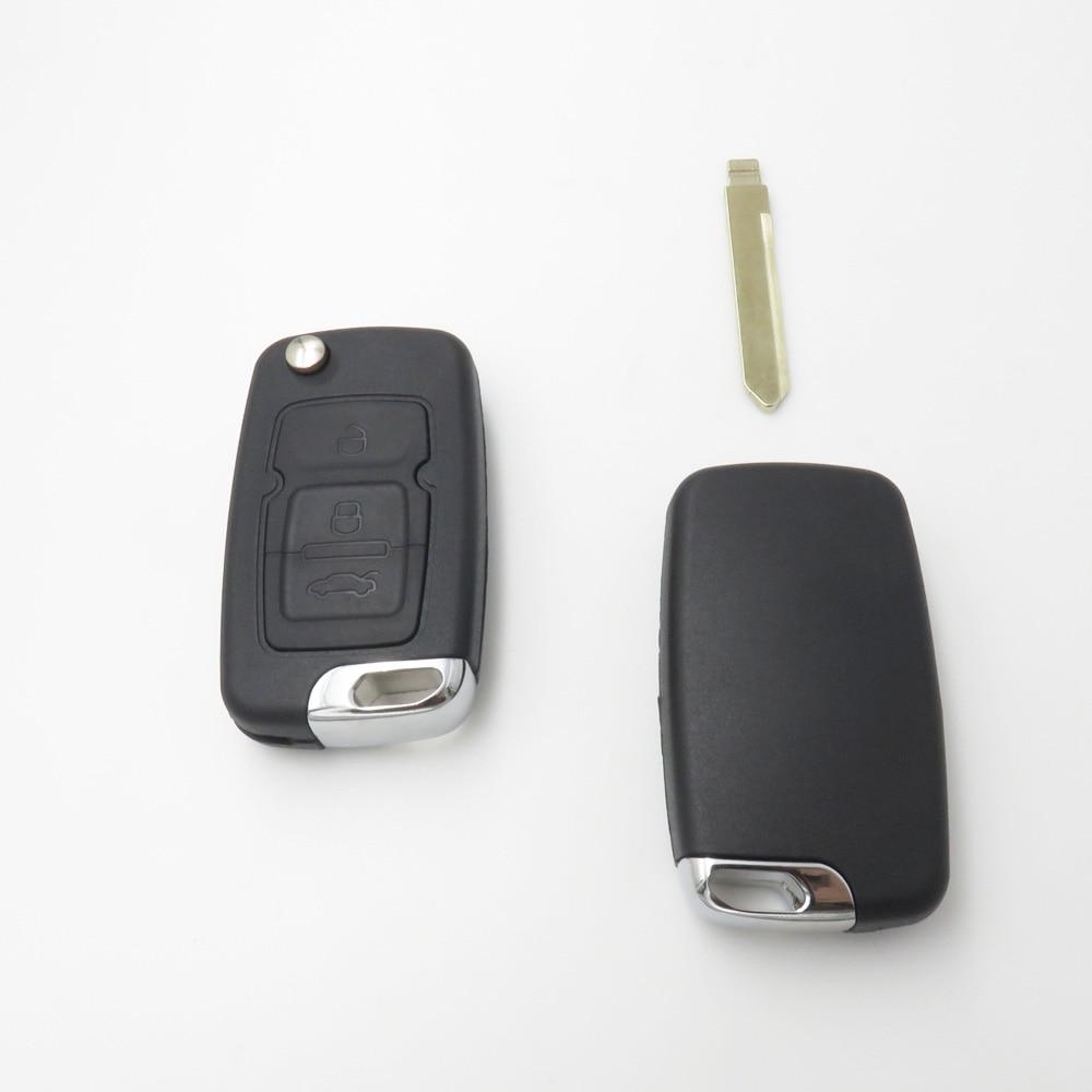 цена на Flip Folding Key Shell Case For Geely Emgrand 7 EC7 EC715 EC718 EC7-RV EC715-RV EC718-RV Remote Key Blank NO LOGO 3 Buttons