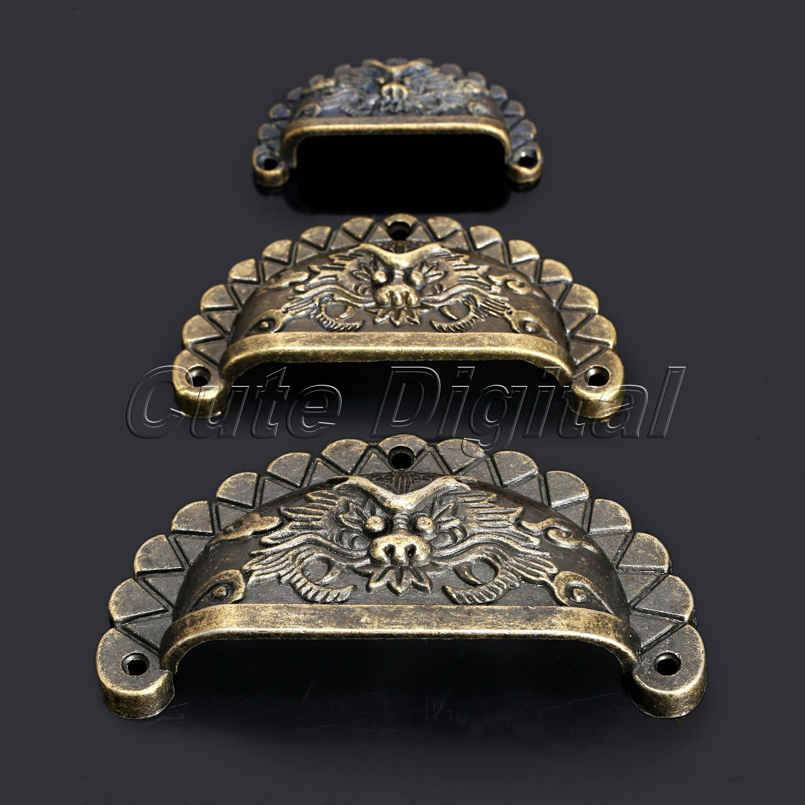 4Pcs Antique Furniture Handles Knobs And Pulls For Cabinet Dragon Shell  Knobs Dresser Drawer Door Pull Handle Cupboard Handle In Cabinet Pulls From  Home ...