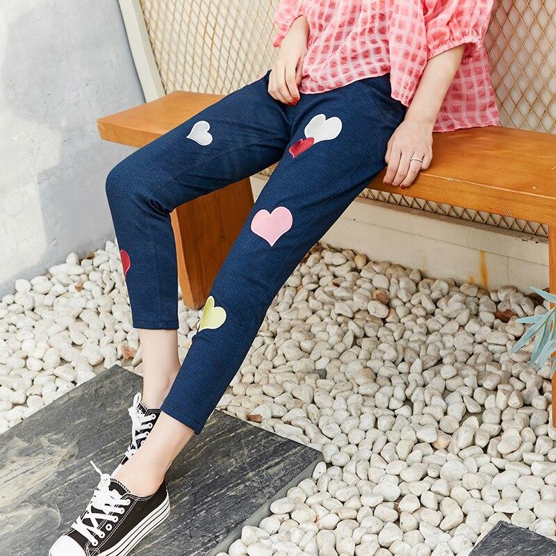 Principessa dolce lolita pantaloni di estate dolce hit colori a forma di cuore ricamo di alta personalità vita elastica dei pantaloni della matita VC193