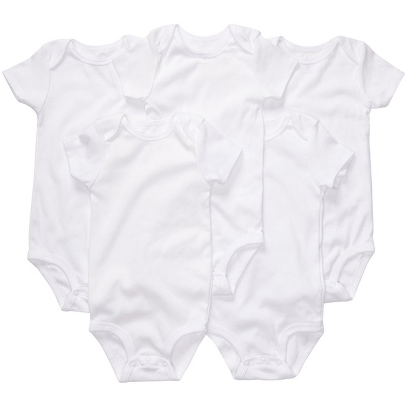 Unisex Baby 5-Pack Short Sleeve Bodysuits Organic Baby Clothing Set