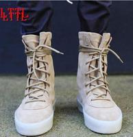 2017 Mode Mannen Herfst Militaire Crêpe Laarzen Ankle Suede Dikke Platte veterschoenen Motorlaarzen voor Groothandel Mannen Winter laarzen