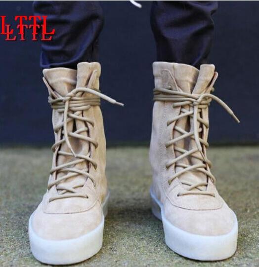2018 Fashion Pria Musim Gugur Militer Crepe Boots Ankle Suede Tebal Datar Lace-up Sepatu Bot Sepeda Motor untuk Grosir Pria Musim Dingin Boots