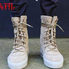 2018 Fashion Men Autumn Military Crepe Boots Ankle Suede Thi