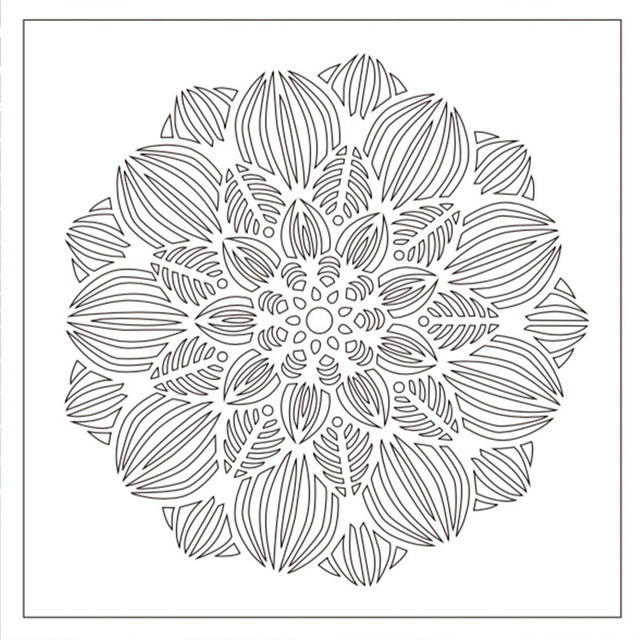 Mandala Flower Stencil for DIY Scrapbooking and Embossing