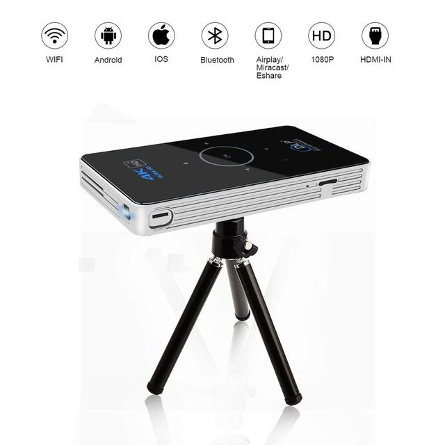 Best Offers OTHA Home Theater Mini Beamer Projector Android 6.0 Video Projector RAM 2GB DLP Cell Phone Projector Supports 4K Portable Projec