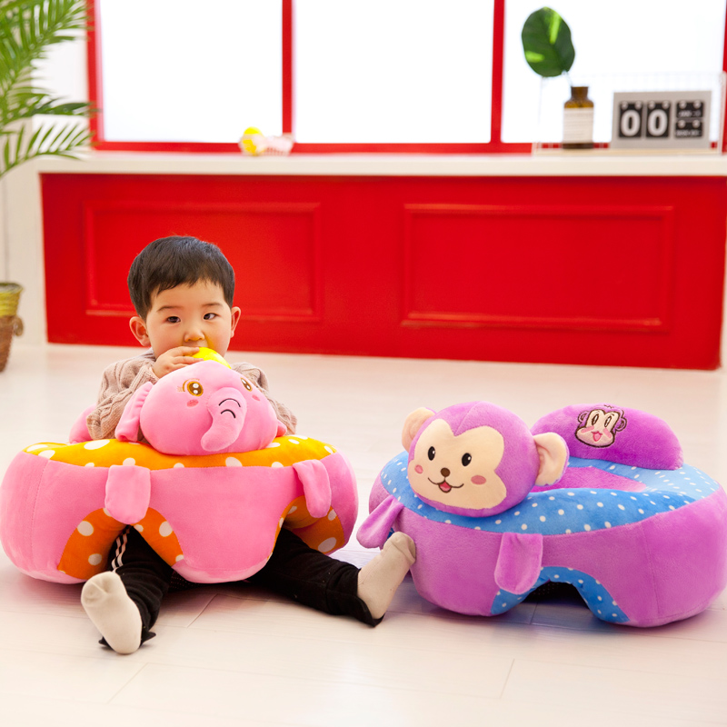 Cartoon Animal Baby Support Seat Sofa Bebe Baby Learning To Sit Chair Comfortable Pillow Cushion Travel Car Seat Sit Plush Toys new arrival large about 55cm cartoon animal design plush seat cushion tatami plush toy sofa floor seat w5291