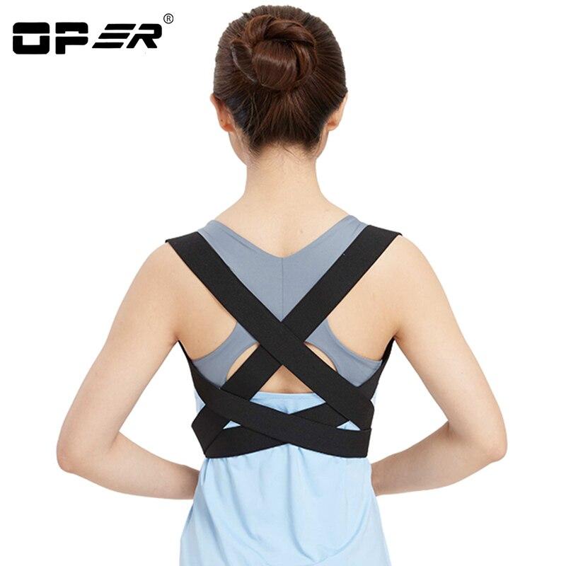 OPER Back Posture Corrector Belt Back Support Children Humpback Adjustable Brace Shoulder Inside Wear Orthopedic Elastic Band