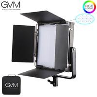 GVM 50RS RGB LED Video Light Full Color CRI TLCI 95+ Bi Color 2000K 5600K Adjustable for Studio Photography with Barn Door & Bag
