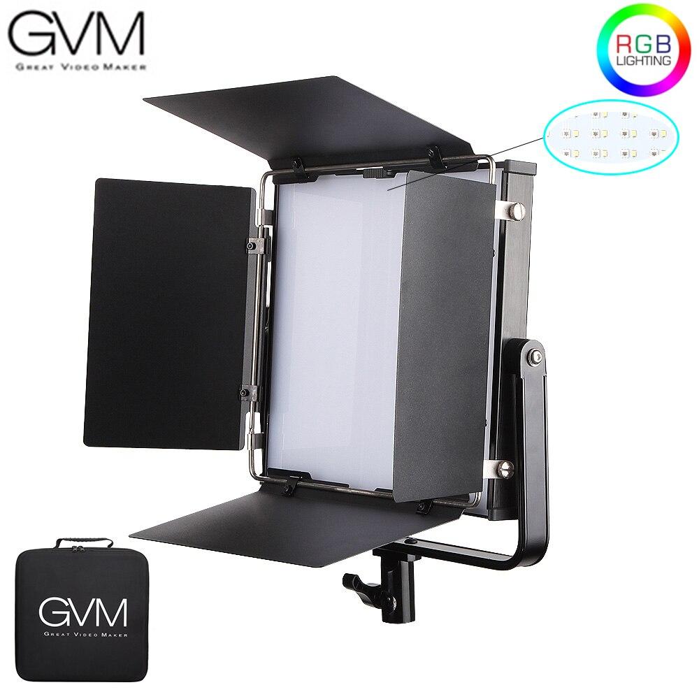 Gvm 50rs rgb led luz de vídeo cor cheia cri tlci 95 + bi cor 2000 k-5600 k ajustável para fotografia de estúdio com celeiro-porta & saco
