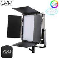 Luz LED de vídeo GMV 50RS RGB a todo Color CRI TLCI 95 + Bi Color 2000 K-5600 K ajustable para fotografía de estudio con puerta de Granero y bolsa