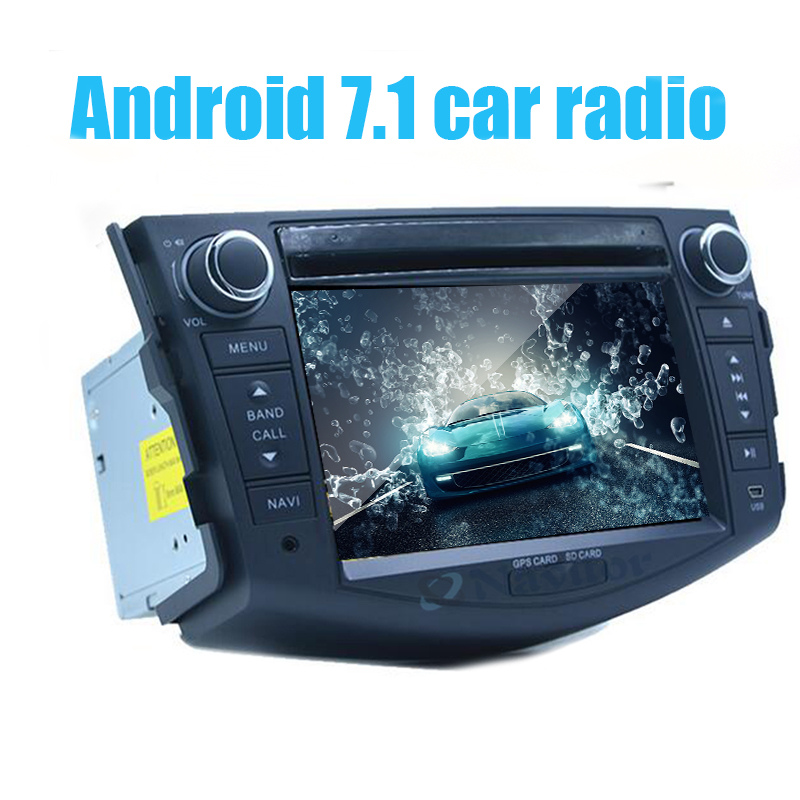 Android 7.1 Car GPS Navigation for Toyota <font><b>RAV4</b></font> <font><b>2006</b></font> 2007 2008 2009 2010 2011 2012 Car <font><b>DVD</b></font> Player Cortex A7 Quad Core 16GB image