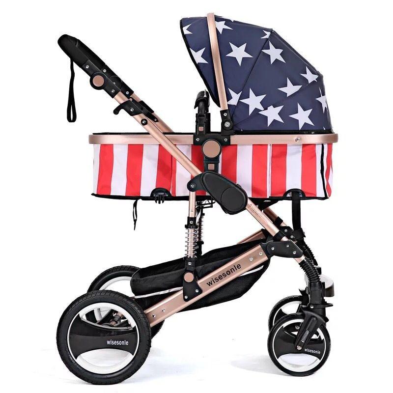 Cochecito de bebé Carro de bebé de paisaje alto puede sentarse en - Actividad y equipamiento para niños