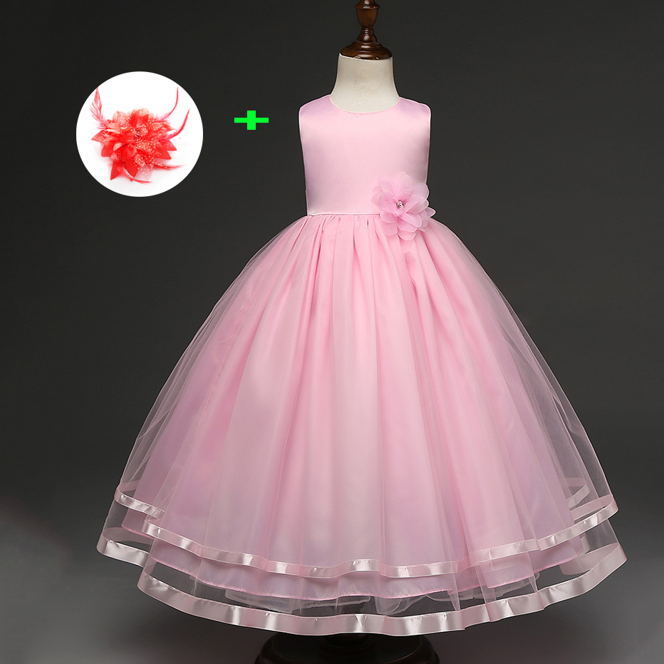 Children Blue Girls Dress with Flower Girls Gowns Special Occasion ...