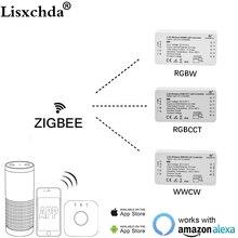 Светодиодный смарт контроллер ZIGBEE, совместимый с Amazon Echo и торговыми партиями, RGB, CCT, WW, CW, Zigbee, светодиодный, диммер