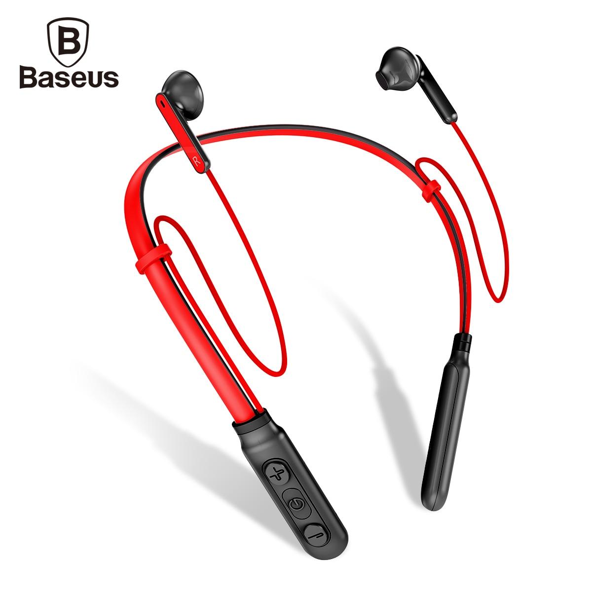 Baseus S16 Wireless Headphone Bluetooth Earphone Fone De Ouvido For Mobile Phone Neckband Ecounter Auriculares V4.0 bluetooth earphone headphone for iphone samsung xiaomi fone de ouvido qkz qg8 bluetooth headset sport wireless hifi music stereo