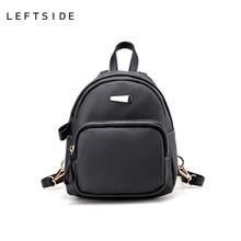 LeftSide Мода 2017 г. 5 цветов женские кожаные рюкзак детей рюкзаки симпатичная Back Pack сумка пакеты для девочек маленькие сумки