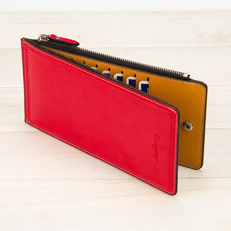 Baellerry Luxury Leather Women Wallets Long Credit Card Holder Ladies Wallet Women Purse Zipper Money Clutch Bag Carteiras W166