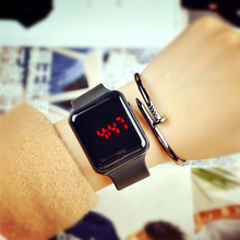2016 Touch Screen LED Bracelet Square Digital Watches For Men&Ladies&Child Clock Women or Watch Sports black /white Wristwatch