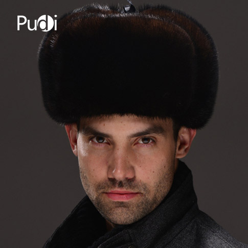 DealùMink-Hat Warm-Caps Russian Winter Real Fur Men HM032 Whole-Piece Men's Genuine