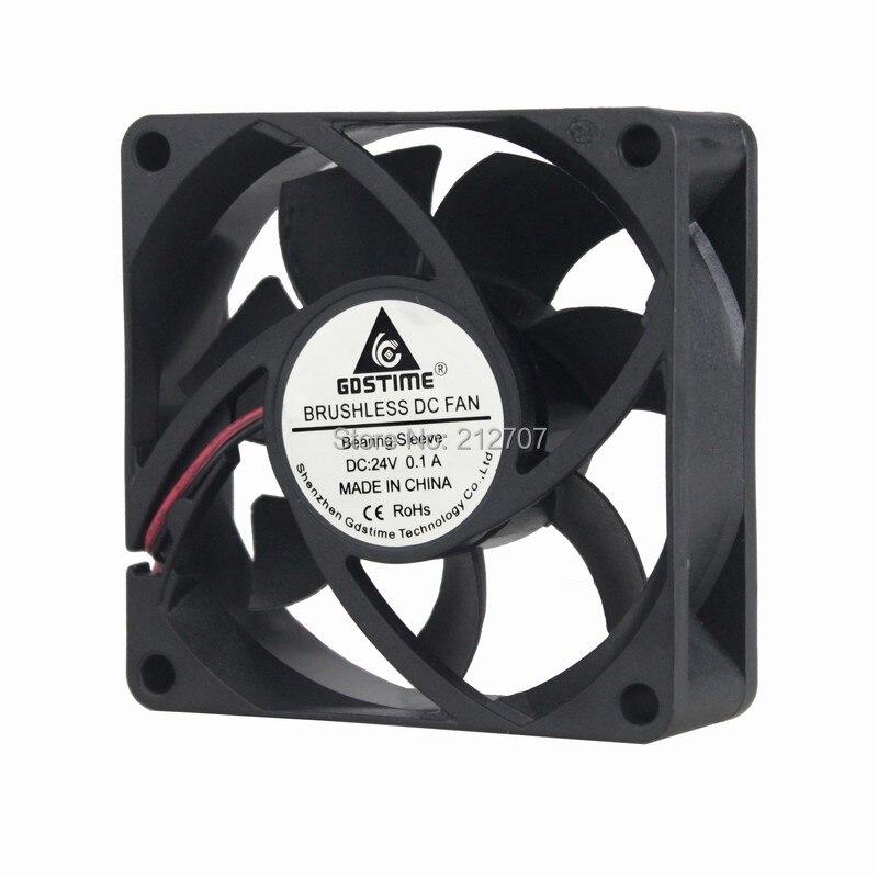 10 Pcs 24V 40mm x 40mm x 20mm PC CPU Computer Cooling Case Exhaust Fan 2pin