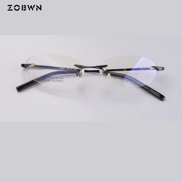 Clássico Quadro miopia óculos de armação para Óculos de leitura sem aro  oval Armações de óculos 3046b1736a