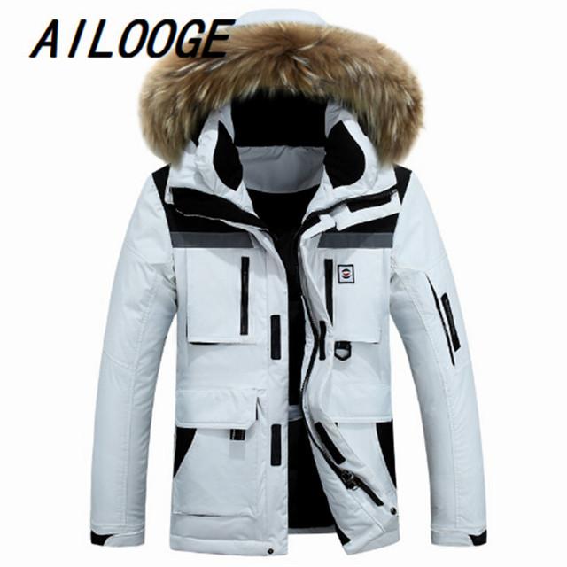 Abajo chaqueta masculina nuevos hombres más largos abrigos de invierno en europa y los Estados Unidos abrigo a juego de color directo de la fábrica venta