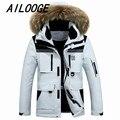 Para baixo casaco masculino dos homens novos mais longos casacos de inverno em europa e nos Estados Unidos casaco de correspondência de cores direto da fábrica venda