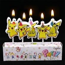 5Pcs/Set Cartoon Pokemon Go Theme Pikachu The New Creative Cartoon Birthday Candles Holiday