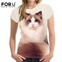 FORUDESIGNS-Kawaii-Ragdoll-Cat-Print-Casual-Women-T-Shirts-Summer-Breathable-Tops-Clothing-Novelty-Bodybuilding-Tee-Shirts-Lady-4