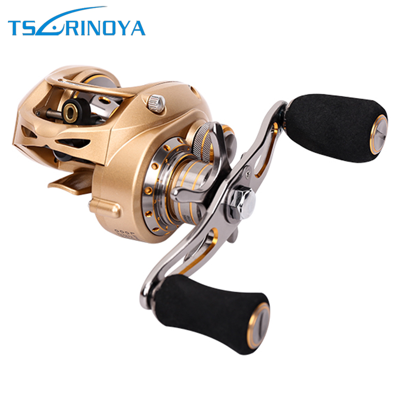 TSURINOYA EX-150 Baitcasting Fishing Reel Super High Speed 7.0:1 Dual Brakes 9BB+1RB Bait Casting Lure Reel Max Drag 7KG stealth 3bb 1rb plastic body bait casting carp fishing reel high speed baitcasting pesca 6 2 1 lure reel