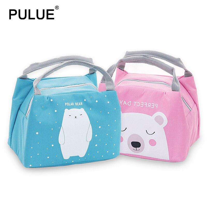 2019 New Cute Cartoon Lunch Bags Children Waterproof Cooler Bag Kids Foods Heat Preservation Tote Bag Girls Portable Bento Pouch