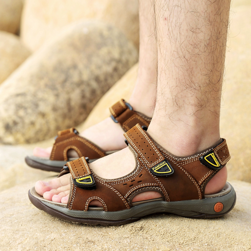 36 Sapatos De Moda Artesanal Grãos Homens Couro 47 Marrom Cheia Sandálias Hecrafted cáqui Cx6018 Verão 2018 wqaXACP