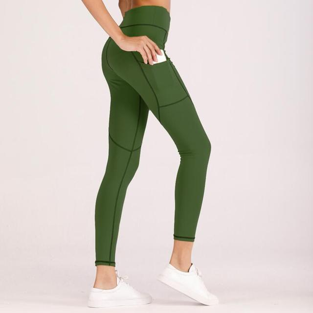 c61df07d21 High Elastic Fitness Sport Leggings Tights Slim Running Sportswear Sports  Pants Women Yoga Pants Quick Drying Training Trousers