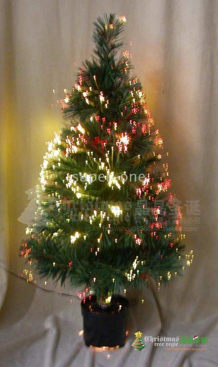 Tall Artificial Tree Pre Lit Trees Fiber Optic Christmas