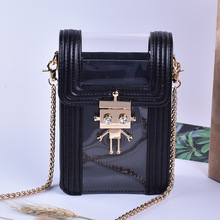 Transparent Bags For Women 2019 Designer Crossbody Metal Robot Lock Small Phone Summer Mini Shoulder