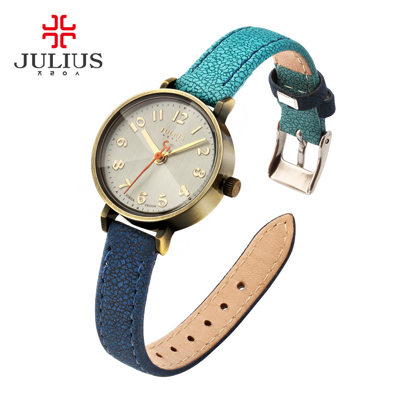 2017 New Arrival Women Watches Quartz Wristwatches Julius Luxury Brand Casual Leather Strap Clock Waterproof Relogio Feminino