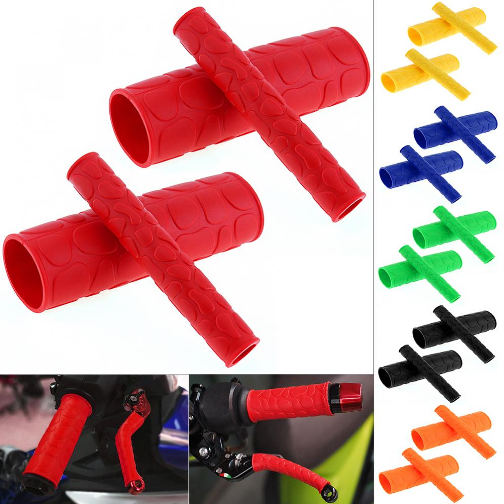 Universal 1 Pair 106 MM Soft TRP Motorcycle Handle Grips With Pattern And 2 Pcs Handbrake Covers For Motorcycle