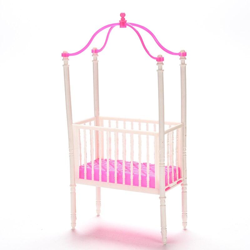 pequeo dulce beb cuna para barbie girls doll muebles cuna de kelly mueca mueca accesorios