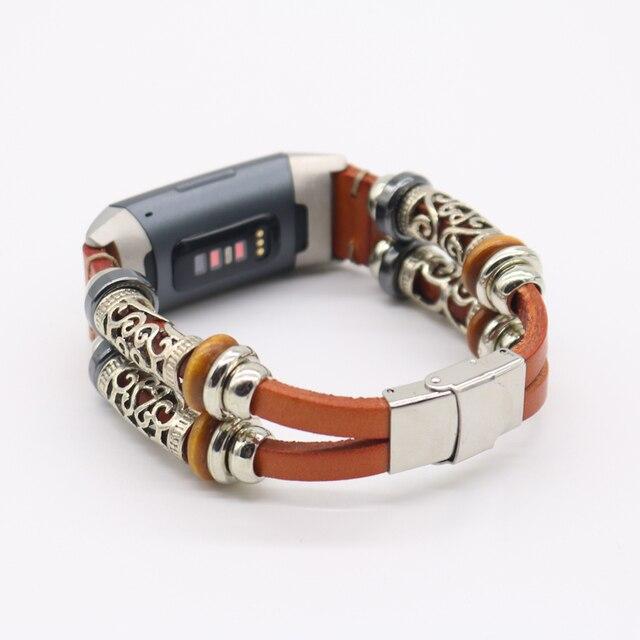 Bracelets de montre pour Fitbit Charge 3 bracelet de remplacement bracelet de poignet personnalité bandes de cuir réglables pour Fitbit Charge 3 sangle